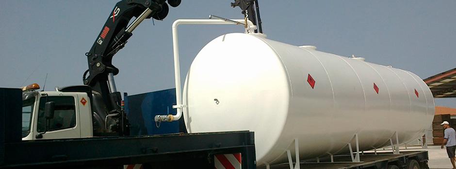 Transporte de depósitos de gasoil
